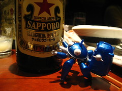 Tachikoma with beer