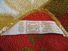 Vintage Washcloth Tag (Library Fashionista) Tags: vintage towels 1960s