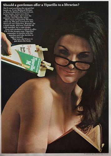book lady cigarette