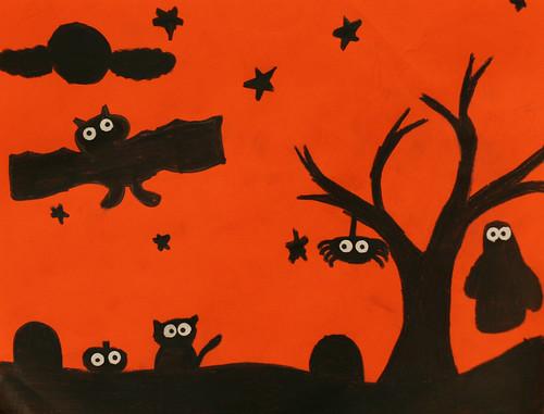 Riley's spooky silhouette