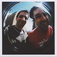 adam & me (pfig) Tags: friends summer sky film lomo dianaf bricklane trumanbrewery pfig cameramodel date:year=2008 date:month=june file:name=img002tif thaicaravan camera:make=lomo lens:focal=20mm file:path=~picturesscansepsondiana