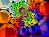 indraDoyle (fdecomite) Tags: color circle geometry packing disk sphere smarties math stacking pacing algorithm mobius povray tangent conformal tangency colourartaward