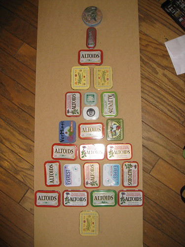 Altoids Advent calendar -- step 1