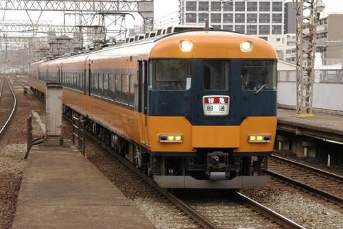 Kintetsu12000series in Imazato,Osaka,Osaka,Japan 2008/11/29