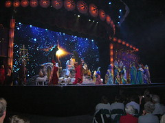 A wider angle view of the things filing in for the nativity.  Look how close we were! (mks3878) Tags: 2008 rockettes