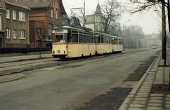 Straßenbahn Rostock. Reko TE70 tram 792, Linie 11, January 1990