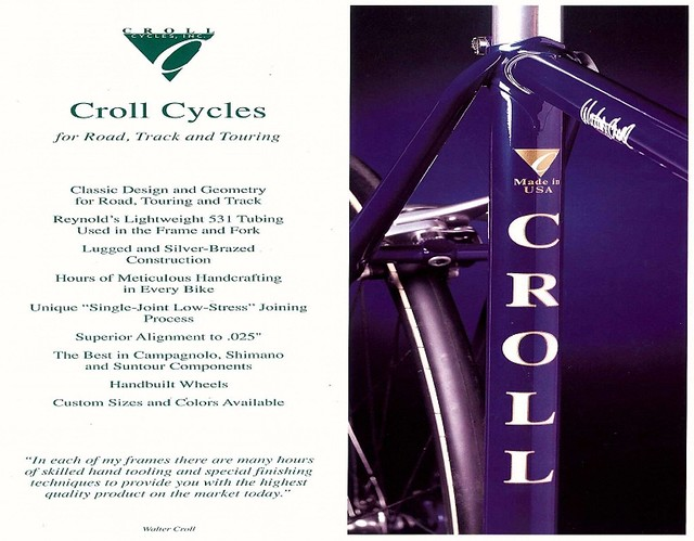 Croll Cycles Brochure