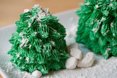 Winter Pine Tree Cakes