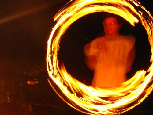 fire poi perfect circle