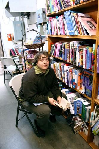Jesse + Books = Paradise
