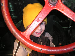 Through the steering wheel (coopcoopbware) Tags: birthday tractor will steeringwheel