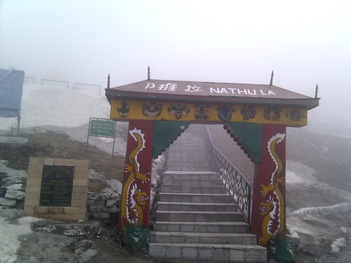 From flickr.com: The entrance to the Nathu La Pass {MID-137310}