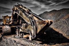 Terminator (SergeK ) Tags: tractor yellow 30 dark construction highway autoroute terminator hdr interchange excavator candiac excaveteur jeanleman