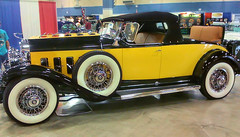 1929 Cadillac Roadster (critter superhero) Tags: auto 1920s black classic car yellow rumble convertible luxury