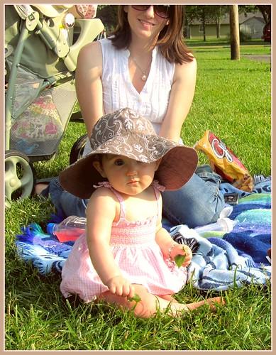 Ally's giant sun hat by Treenie Beanie