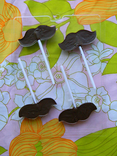 mustache pops in the making