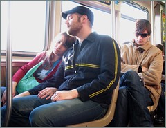 Emotionally Available (TheeErin) Tags: people chicago love beard couple cta publictransportation depaul el romance transit commute l commuting trio closeness addison engaged humans available tuff chicagoland greenbag chicagotransitauthority trainride comute chicagoist emotionally lovetrain spongeworthy ridership masstrans emotionallyavailable