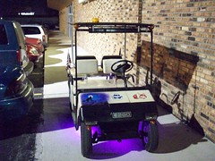 My E-Z-GO Golf Cart With Neon Lights (Whitewolf Photography) Tags: light car club golf lights neon neonlights yamaha cart golfcart clubcar ezgo