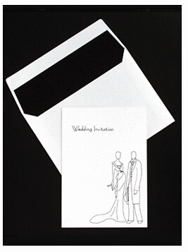 Black And White Wedding Invitations-Glamour por leedbrooker.