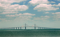 Tampa Bay's Wonder (gatorgalpics) Tags: sunshineskywaybridge excellentphotographerawards newacademy qualitypixels spanningfloridastampabay lengthof29040feetexactly55miles worldslongestbridgewithacablestayedmainspan flagbridgeofflorida