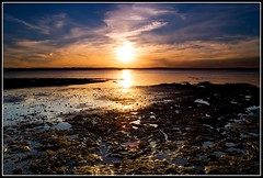 Low Tide (Chris Gin) Tags: sunset newzealand sky sun beach nature water clouds rocks tide auckland nz ndfilter gndfilter neutraldensity graduatedfilter mywinners abigfave worldwidelandscapes qualitypixels