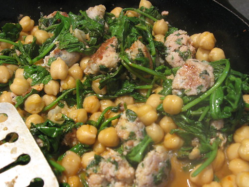 A variation on our favorite, beans, greens and sausage