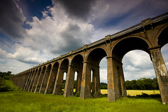 Ouse Valley viaduct (tomre) Tags: uk bridge england clouds sussex countryside haywardsheath wideangle nikond50 viaduct sigma1020mm balcome cokingradfilter ousevalleyviaductbalcombe