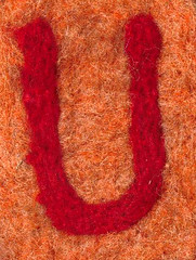 Alphabet ATC or ACEO Available - Needlefelted Letter U