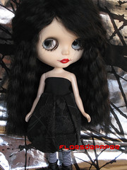 Cloe and her beautiful new dress