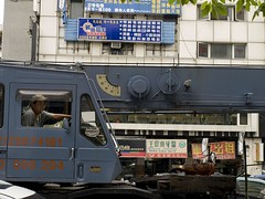 Driving a Crane (monsieurpotts) Tags: driving crane taiwan saturday smoking taipei   gongguan  smokingwhiledriving