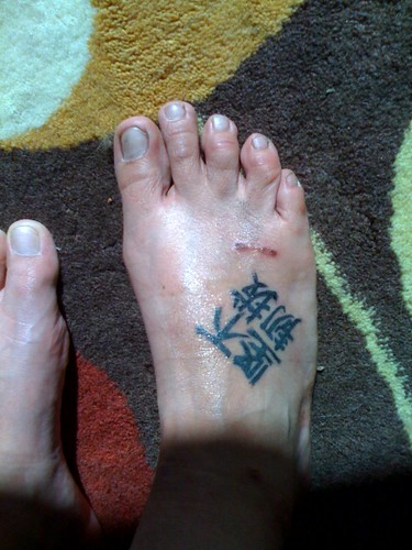 chinese tattoo foot tattoo tat ink