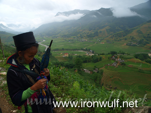 A black Hmong Vendor at Sapa Valley