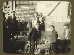 Eveleigh Workshops during the 1917 railway strike (State Records NSW) Tags: people blackandwhite fashion clothing workers hats staff archives newsouthwales railways workshops eveleighworkshops staterecordsnsw railwaystrike