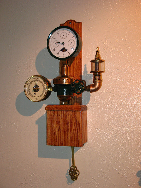 brass gauge clock