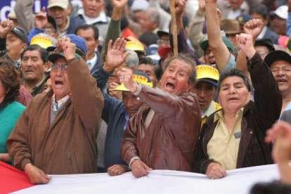FONAVI: Marcha de fonavistas