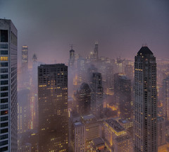 Chicago Skyline - light fog 2 (doug.siefken) Tags: city cloud chicago tower art home cup rain weather fog skyline architecture night clouds buildings geotagged is photo illinois still haze artwork colorful flickr downtown cityscape foto with michigan searstower doug foggy cities first windy images since parade uptown photograph r fotos stanley getty ambient blackhawks parkhyatt win trumptower douglas johnhancock nite stills 1961 celebrating urbanscape streeterville chicagoskyline urbanscapes the chicagoist citscapes chicagoan hdrpanorama topofthefog siefken dougsiefken douglasrsiefken justchicagoart