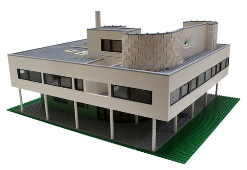 Villa Savoye by Le Corbusier now made of Lego bricks
