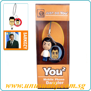 2D Custom Mini Phone Strap Male Figurine