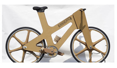 Cardboard Bicycle designed by Phil Bridge