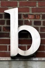 Aluminum Lower-case Letter B (Long Island City, NY) (takomabibelot) Tags: newyorkcity b newyork brick geotagged aluminum letter bb longislandcity oneletter serif 21ststreet queensplazanorth graybarelectriccompanyincorporated geo:lat=40752906 geo:lon=73943149