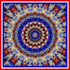 Feathery Fourth (Lyle58) Tags: abstract geometric circle kaleidoscope mandala symmetry zen harmony reflective symmetrical balance july4th 4thofjuly circular kaleidoscopic kaleidoscopes kaleidoscopefun kaleidoscopeonly brandyshaul