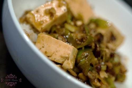 Tofu and spicy black bean sauce