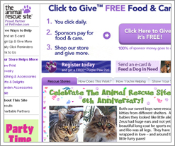 The Animal Rescue site celebrates its 6th anniversary