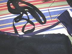 navy linen blend outfit
