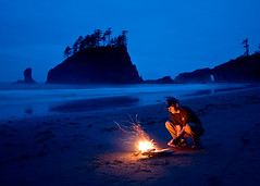Ocean View Dining (Jeffrey Sullivan) Tags: ocean park sea copyright usa selfportrait seascape beach cooking jeff nature night landscape geotagged fire evening coast photo washington sand all dusk pacificocean national rights second hotdogs olympic sullivan 2008 reserved roasting stacks waterscape 52weeks