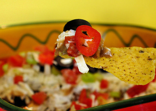 Mexican layered dip with chip 4203 R