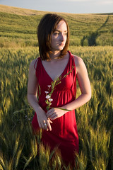 Nicole (austinspace) Tags: sunset portrait woman washington dusk farm wheat magichour tekoa palouse