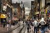 A Wet Weekend In Amsterdam (BarneyF) Tags: road street people wet rain amsterdam sign shop cityscape hdr wetweekend