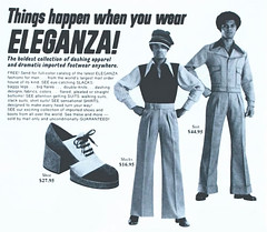 Things happen when you wear ELEGANZA! (SA_Steve) Tags: vintage ads bad retro advertisements fashions foundontheweb vintageads eleganza