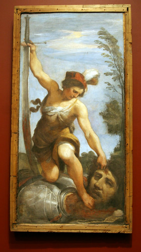 Givanni Francesco Barbieri (Il Guercino) - David With the Head of Goliath - Nelson-Atkins Museum